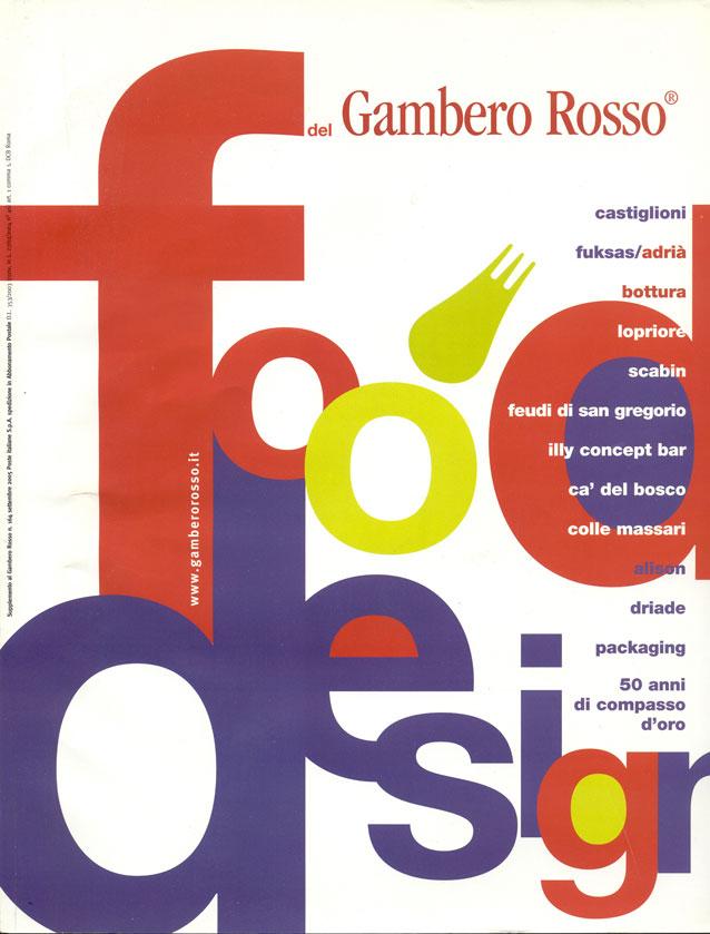 """""""50 anni di compasso d'Oro"""", Foodesign del Gambero Rosso, n.164 (settembre 2005)."""
