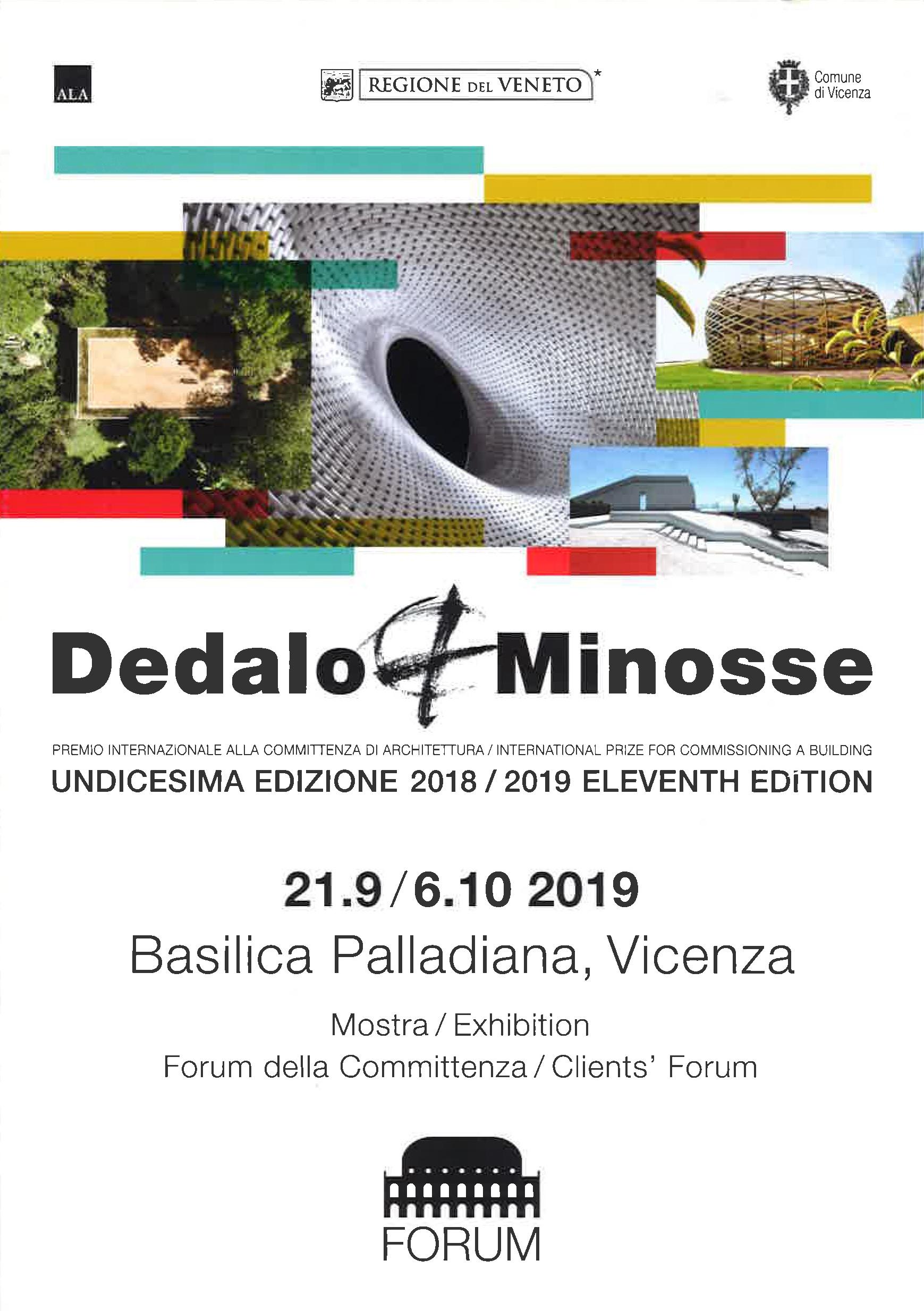 Catalogo della Mostra del XI edizione Premio Dedalo Minosse - Gli spazi urbani e le infrastrutture, Vicenza (21.09 - 06.10.2019)